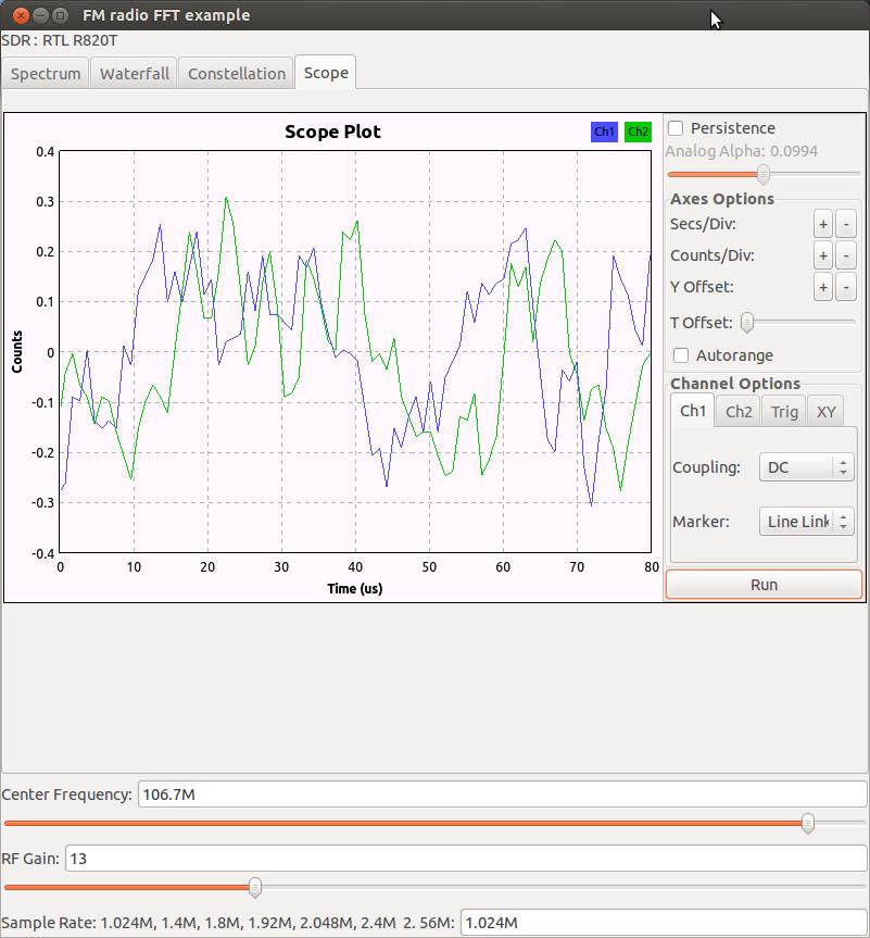 GNU Radio Simple FM Band Spectrum Analyzer