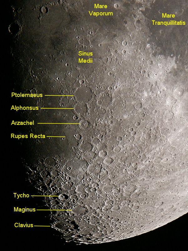 Moon Ptolemaeus Alphonsus Tycho And Clavius Craters